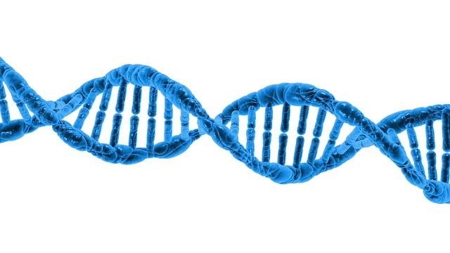 Ľudská bunka v modrej farbe
